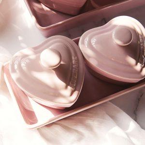 (紫)心型鑄瓷佐料皿(大)